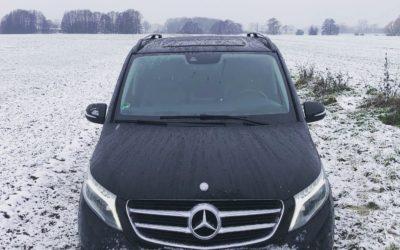 Wir chauffieren Sie durch den Schnee